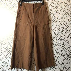 ANN TAYLOR wide leg brown gaucho SIZE 0P